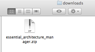 Essential Architecture Manager ZIP file downloaded