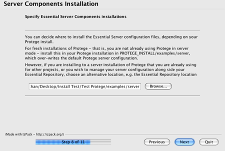 Essential Installer Server Configuration Panel