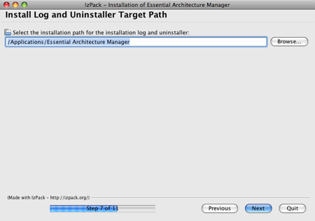 Essential Install Uninstall Path Panel